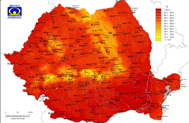 Disconfort termic: temperaturi caniculare ce pot ajunge la 36 de grade