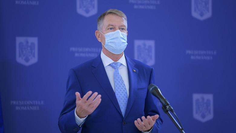 """Klaus Iohannis: """"Fiecare român care doreşte să voteze, sper să fie cât mai mulţi, poate să o facă în siguranţă"""""""