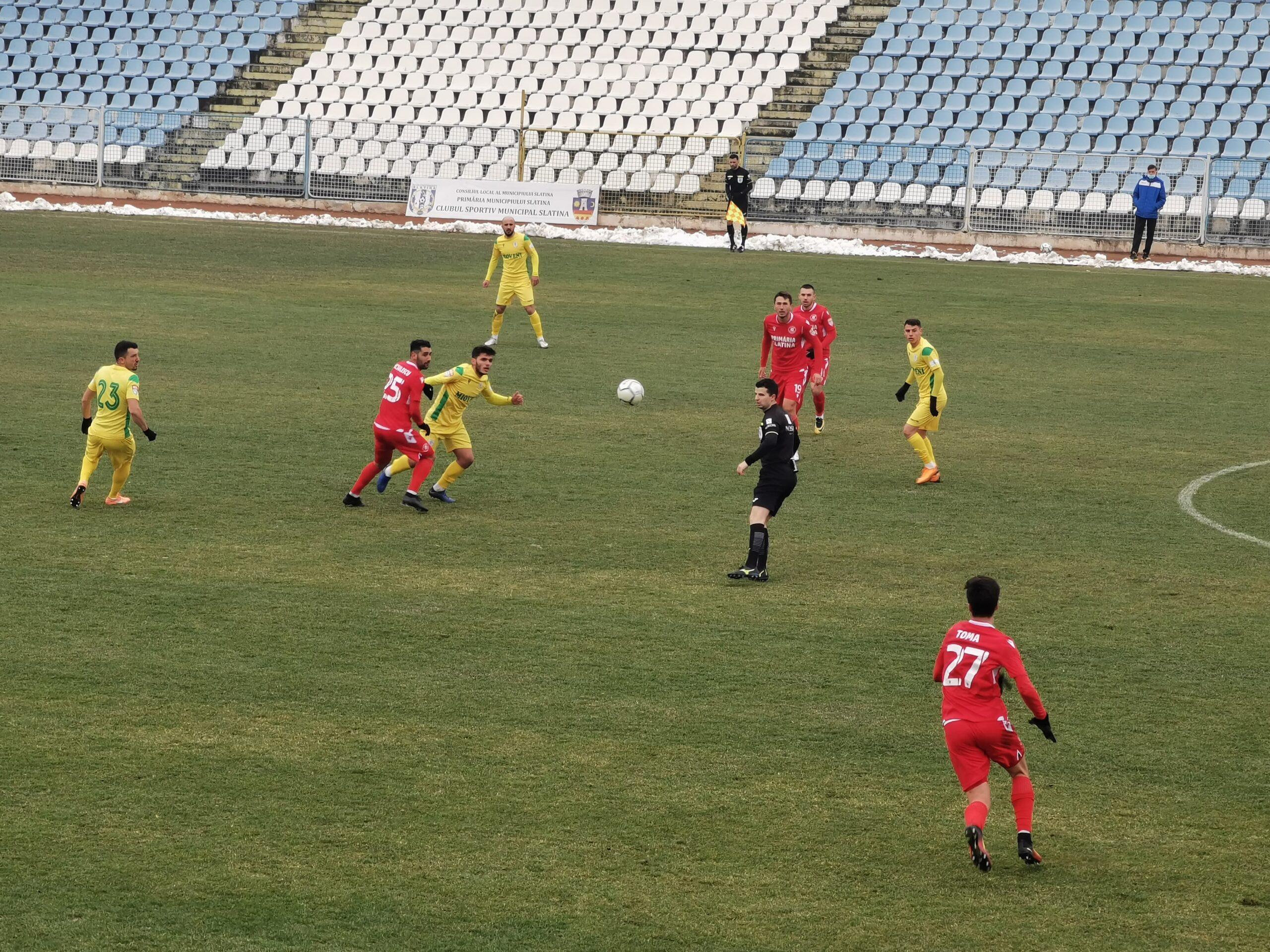 CSM Slatina pierde duelul cu CS Mioveni, după un gol încasat spre finalul partidei